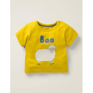 Animal Logo T-Shirt - Daffodil Yellow Sheep