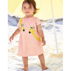 Big Applique Jersey Dress - Provence Dusty Pink Spot