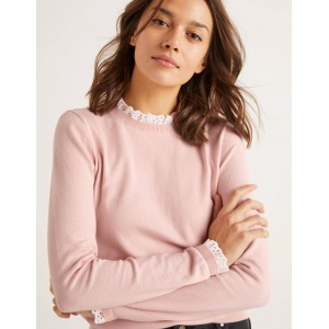 Lincoln Frill Neck Sweater - Milkshake