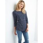 Maternity Stripe Layer Nursing T-Shirt