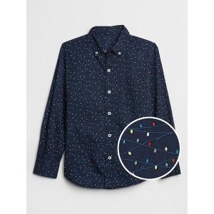 Print Poplin Shirt