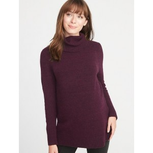 Maternity Relaxed Turtleneck Tunic Sweater