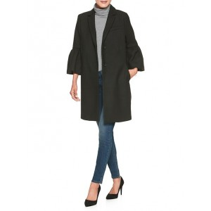 Fluted Sleeve Fashion Top Coat