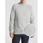 Turtleneck Pullover Sweater in Cotton Blend