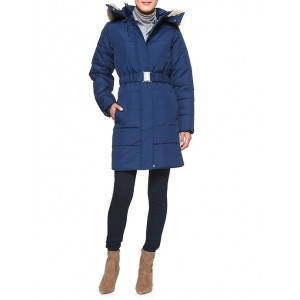 Water Resistant Faux Fur Hooded Quilted Jacket