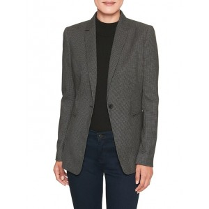 Houndstooth Long and Lean One Button Blazer