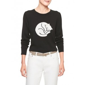 Machine Washable Cat Forever Pullover Sweater