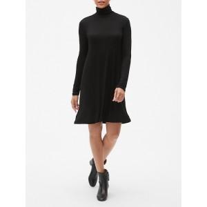 Turtleneck Long Sleeve Dress in Rayon