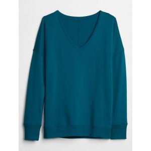 V-neck Tunic Sweatshirt in Fleece