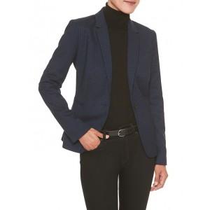 Machine Washable Blue Gingham Suit Blazer