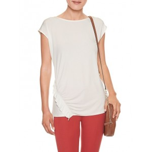 Rouched Ruffle Top