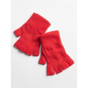 Ribbed Fingerless Gloves