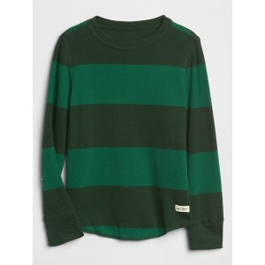 Stripe Thermal Long Sleeve T-Shirt