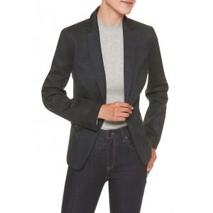 Machine Washable Plaid Ponte Cutaway Suit Blazer