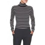 Stripe Merino Wool Turtleneck Sweater
