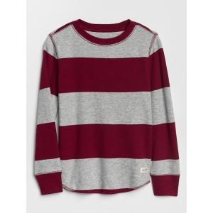 Stripe Thermal Long Sleeve T-Shirt