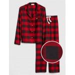 Print Flannel PJ Set