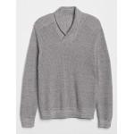 Shawl-Collar Pullover Sweater