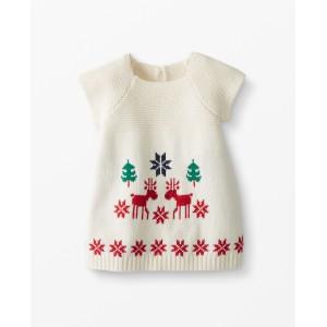 Dear Deer Sweater Dress In Cotton & Merino