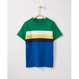 Sueded Jersey Colorblocked Tee