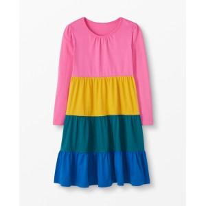 Colorblock Twirl Power Dress