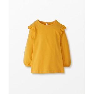 Sueded Jersey Ruffle Popover