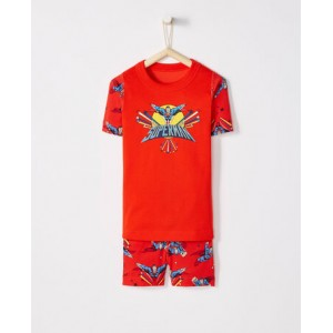JUSTICE LEAGUE SUPERMAN Short John Pajamas In Organic Cotton