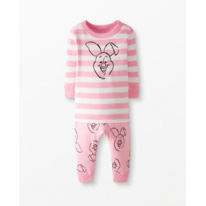 Disney Winnie The Pooh Long John Pajamas In Organic Cotton