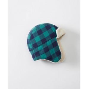Sherpa Lined Buffalo Plaid Trapper Hat