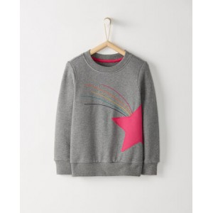 Applique Sweatshirt In French Terry