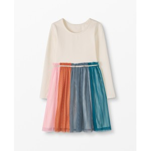 Rainbow Dress In Soft Tulle
