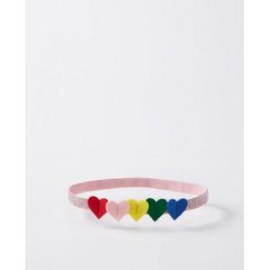 Rainbow Hearts Headband