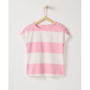 Sueded Jersey Stripe Top