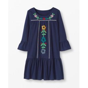 Wintry Wonderland Embroidered Dress