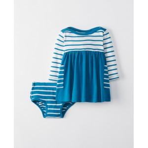 Bright Baby Basics Dress Set In Organic Cotton