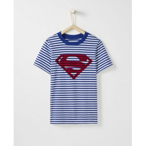 JUSTICE LEAGUE SUPERMAN Sueded Jersey Art Tee
