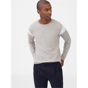 Colorblock Crewneck Sweater
