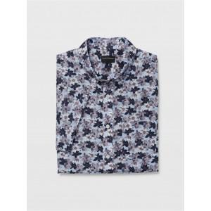 Slim Short-Sleeve Flower Shirt