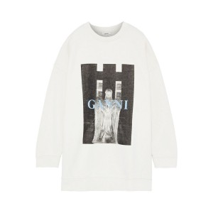 Ecru Lott Isoli printed cotton-terry sweatshirt