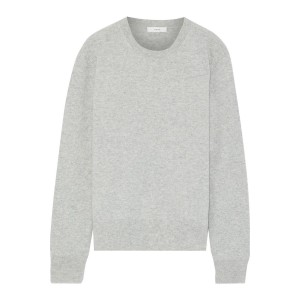 Gray Melange cashmere sweater