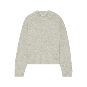 Neutral Donegal merino wool-blend sweater