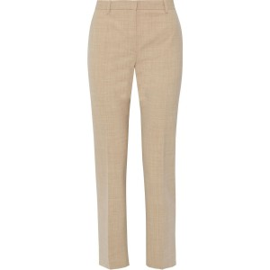 Taupe Stretch-wool straight-leg pants