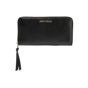 Black Pippa textured-leather continental wallet