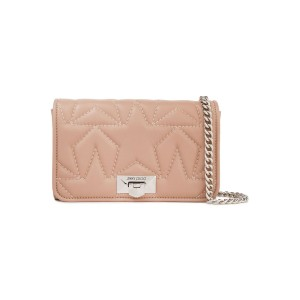 Antique rose Quilted leather clutch