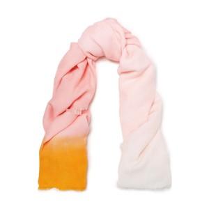 Pastel pink Ezzat degrade cotton and modal-blend jacquard scarf