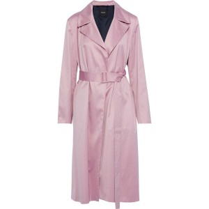 Lilac Cotton-voile trench coat