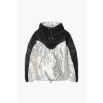 Black Richie two-tone metallic shell hooded jacket