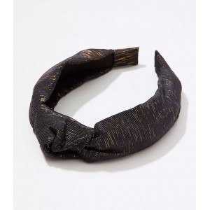 Metallic Top Knot Headband