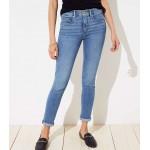 Curvy Soft Slim Pocket Skinny Crop Jeans in Pure Mid Indigo Wash
