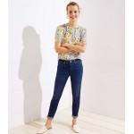 Modern Soft Slim Pocket Skinny Crop Jeans in Authentic Dark Indigo Wash